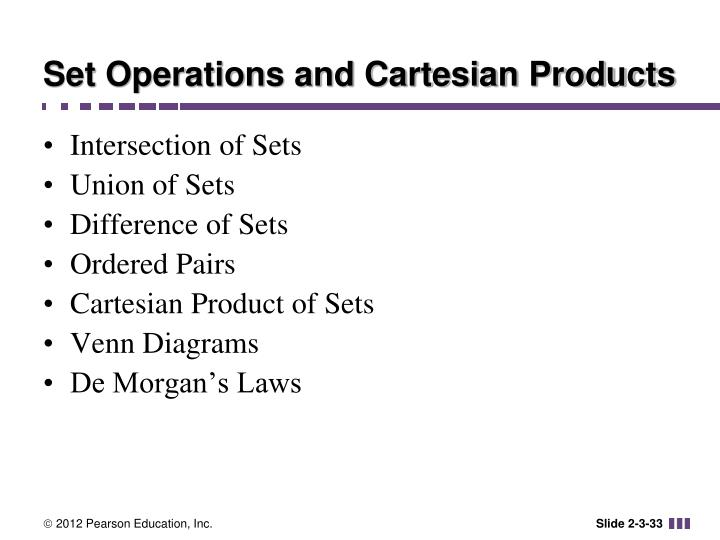 Set Operations and Cartesian Products