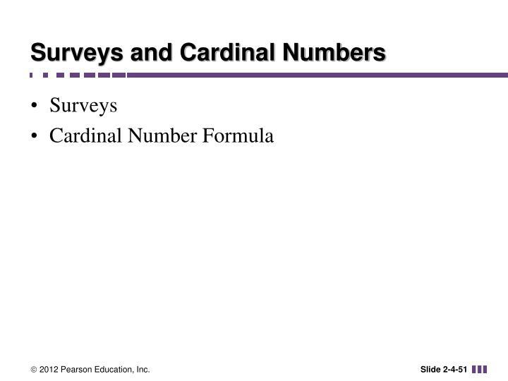 Surveys and Cardinal Numbers