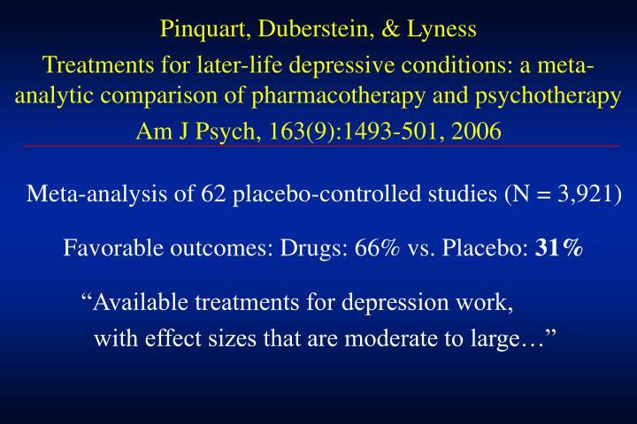 Pinquart, Duberstein, & Lyness