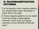 b paleomagnetization patterns