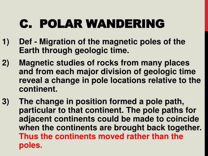 C.  Polar Wandering