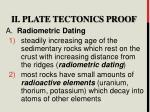 ii plate tectonics proof