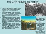 the cpr saves the nation