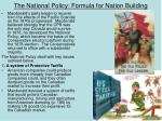 the national policy formula for nation building