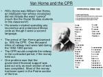 van horne and the cpr