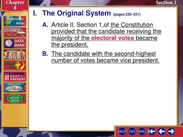 I.The Original System