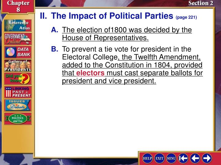 II.The Impact of Political Parties