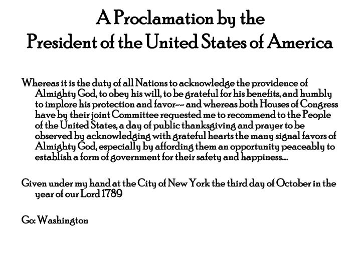 A Proclamation by the
