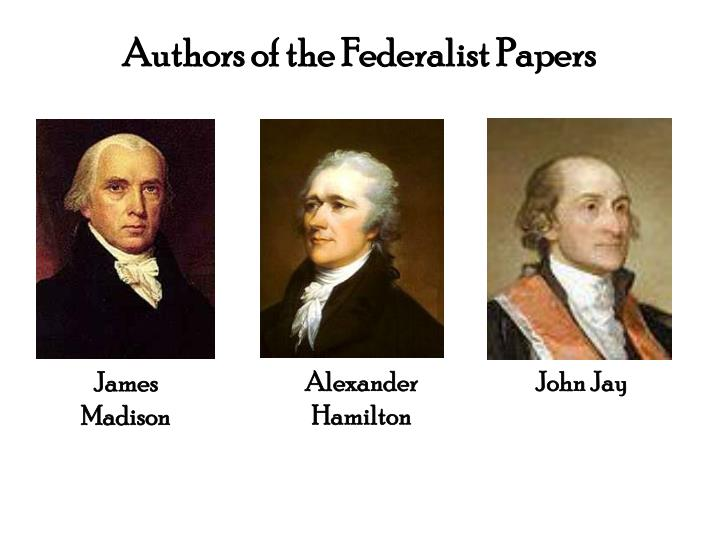 Authors of the Federalist Papers