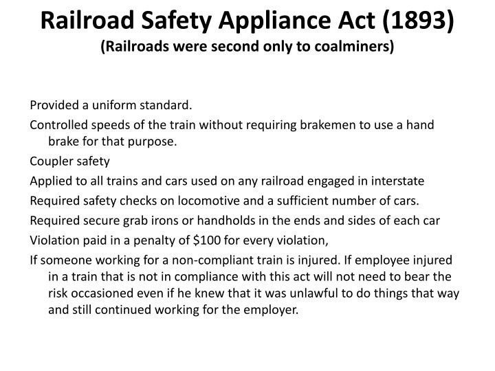 Railroad Safety Appliance Act (1893)