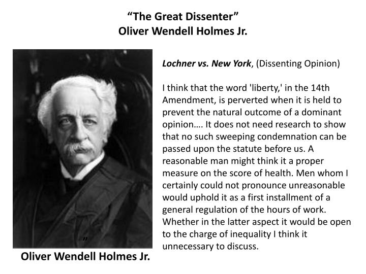 """The Great Dissenter"""