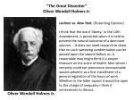 the great dissenter oliver wendell holmes jr
