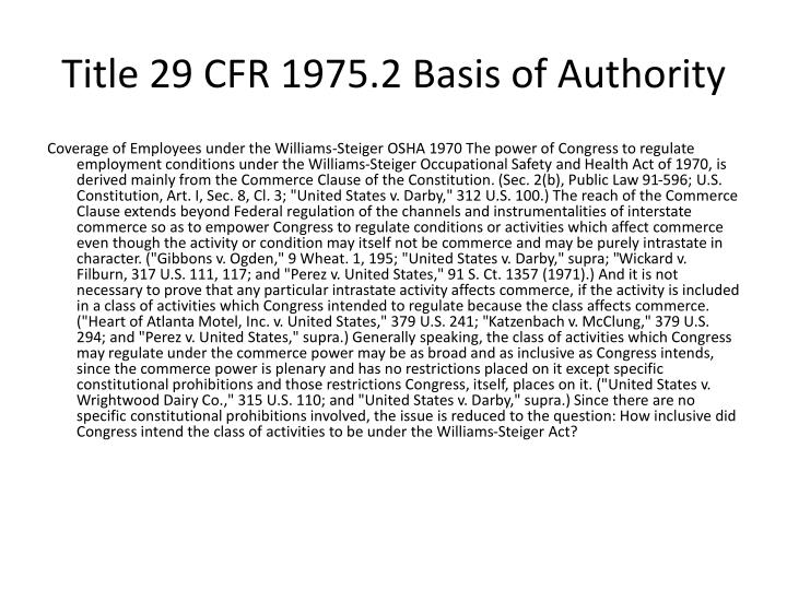 Title 29 CFR 1975.2 Basis of Authority