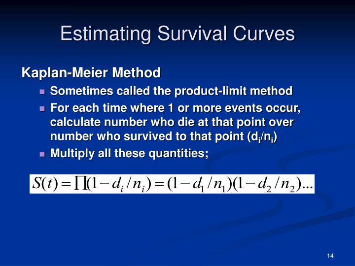 Estimating Survival Curves