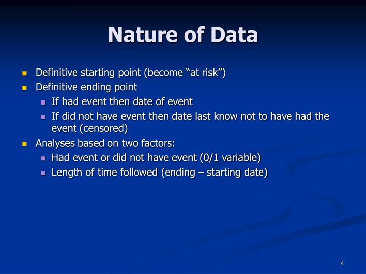 Nature of Data