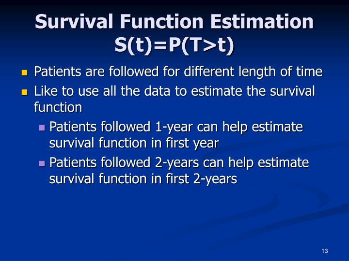 Survival Function Estimation