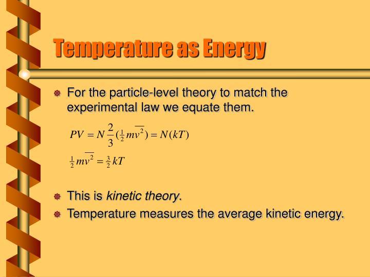 Temperature as Energy