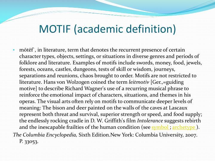 MOTIF (academic definition)