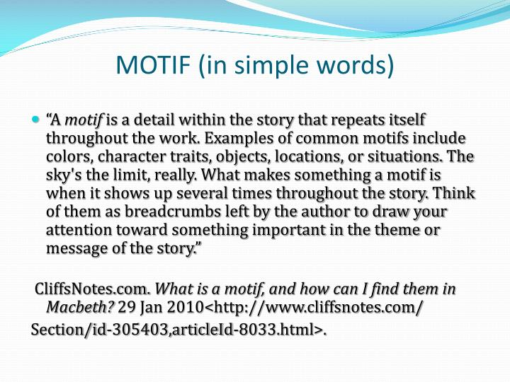 MOTIF (in simple words)