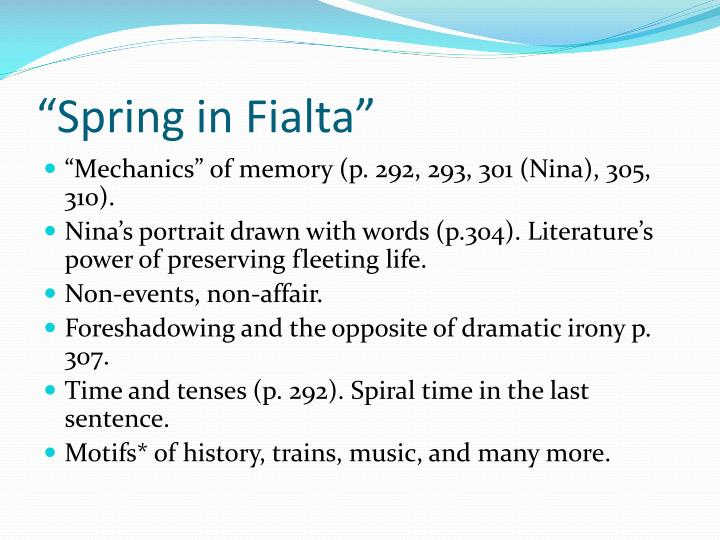"""""""Spring in Fialta"""""""