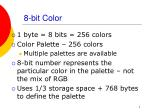 8 bit color