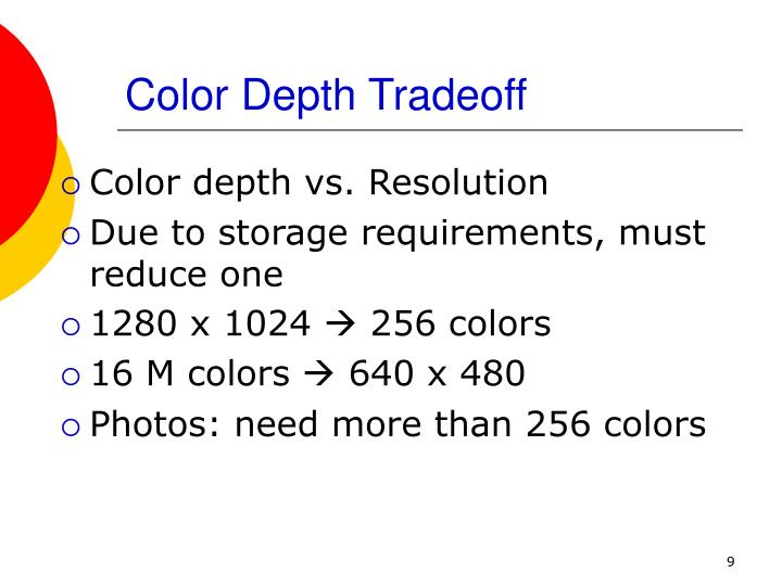 Color Depth Tradeoff