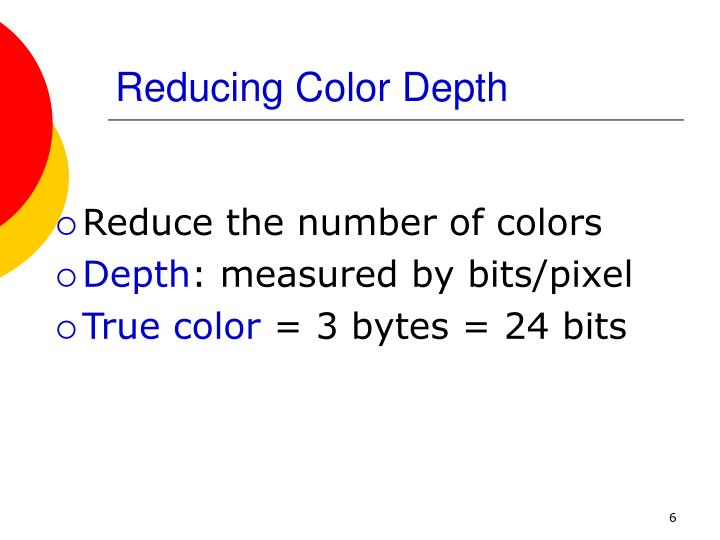 Reducing Color Depth