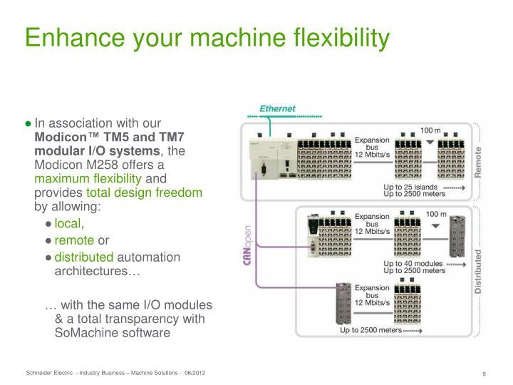 Enhance your machine flexibility