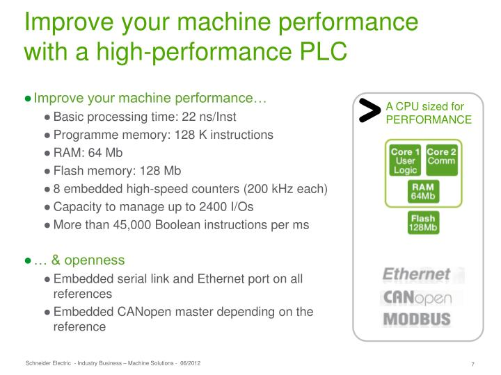 Improve your machine performance