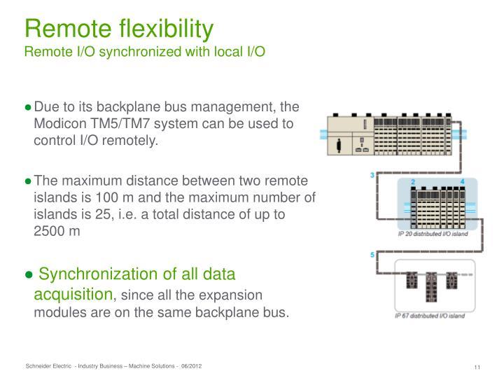 Remote flexibility
