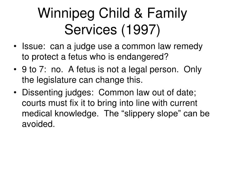 Winnipeg Child & Family Services (1997)