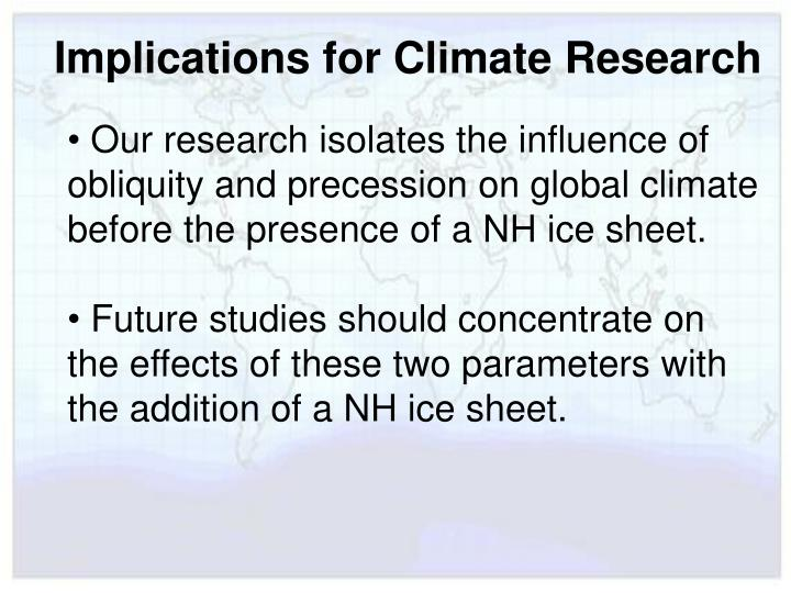 Implications for Climate Research