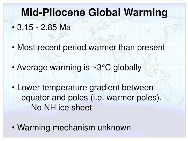 Mid-Pliocene Global Warming