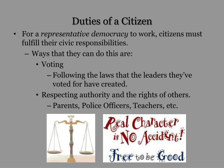 Duties of a Citizen