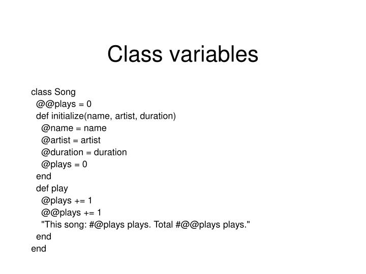 Class variables