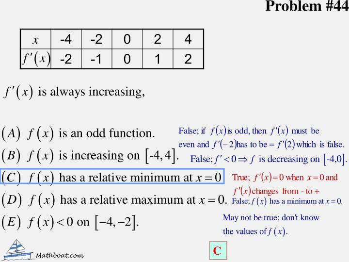 Problem #44