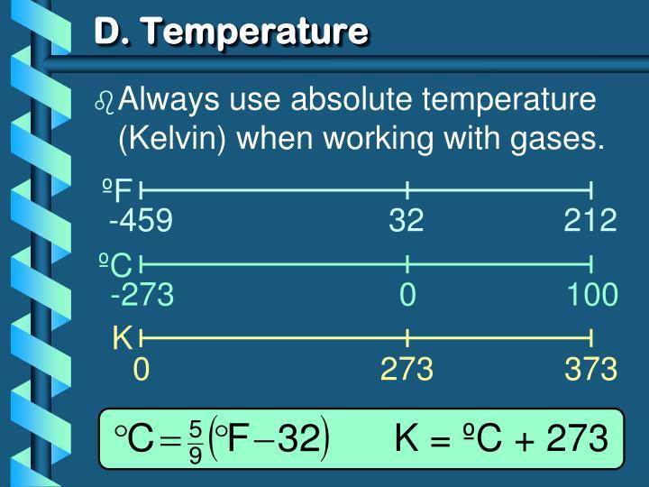 D. Temperature