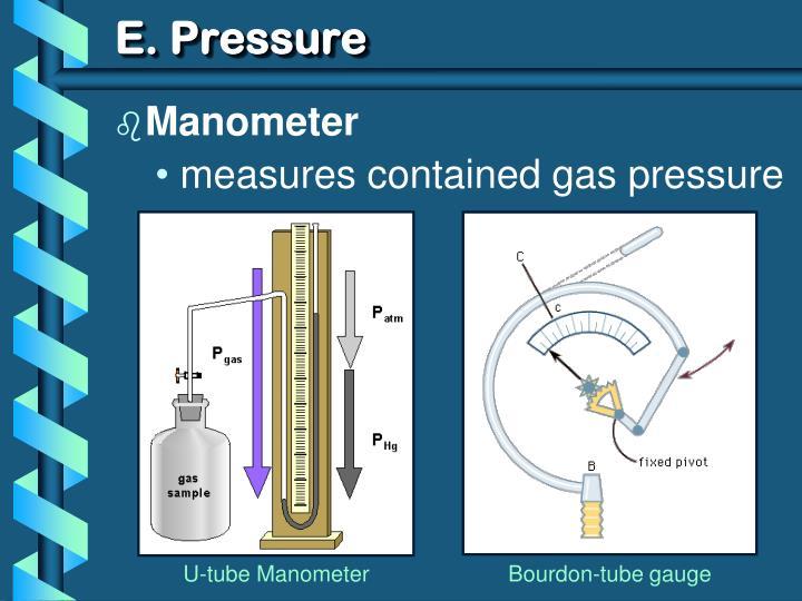 E. Pressure