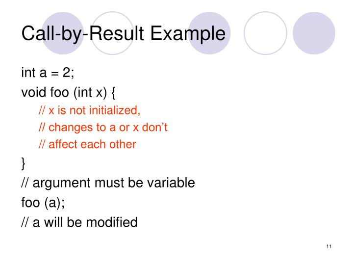 Call-by-Result Example