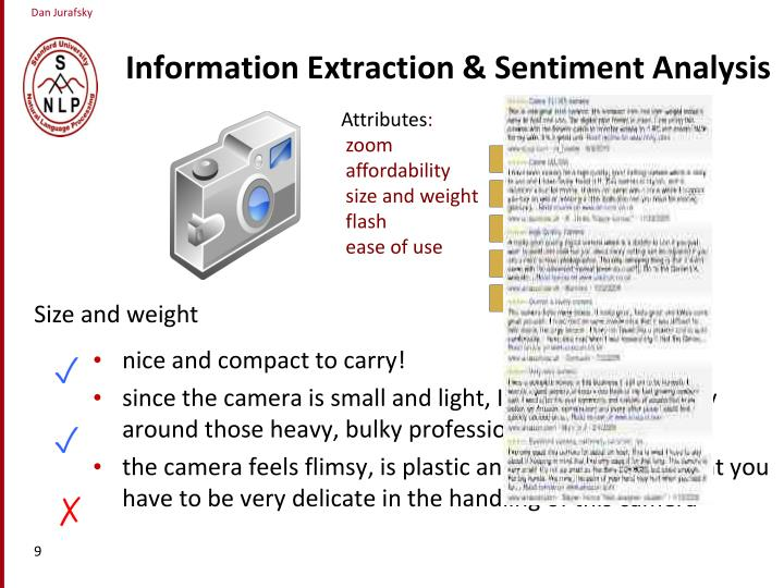 Information Extraction & Sentiment Analysis