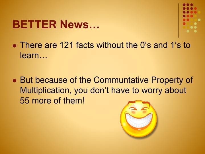 BETTER News…