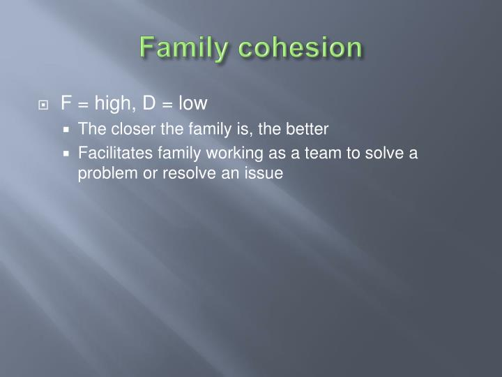 Family cohesion
