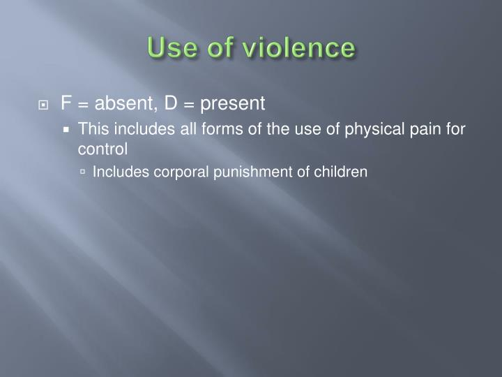 Use of violence