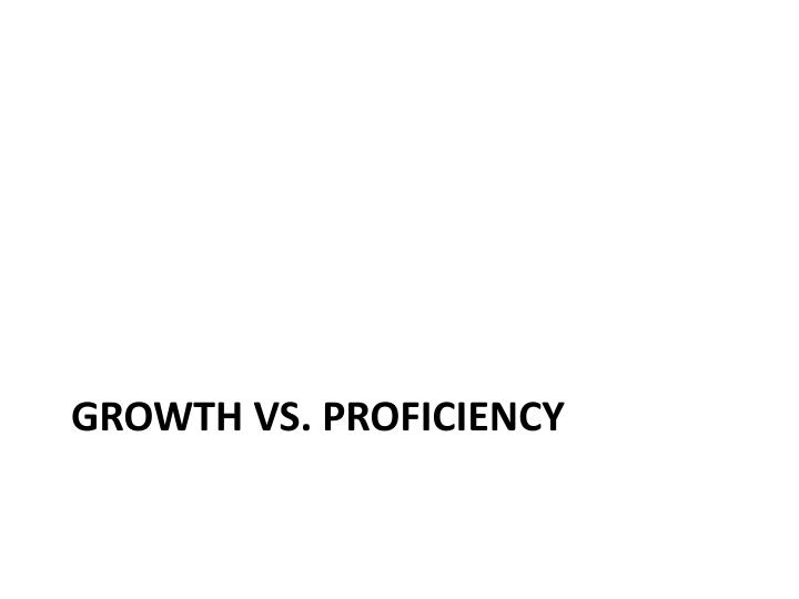 Growth vs proficiency