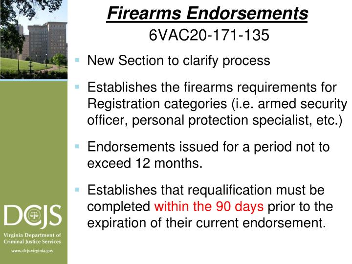 Firearms Endorsements