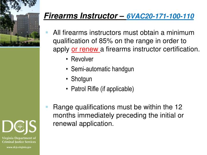 Firearms Instructor –