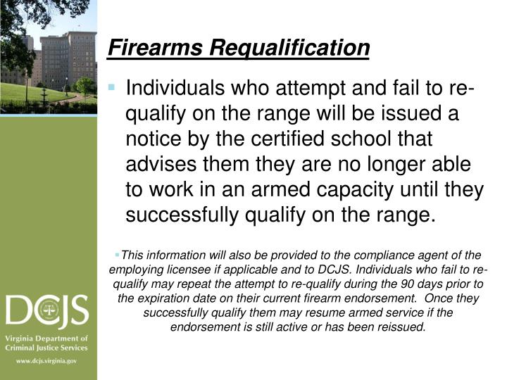 Firearms Requalification