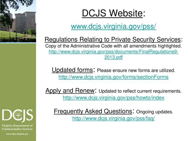DCJS Website