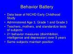 behavior battery