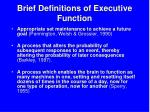 brief definitions of executive function